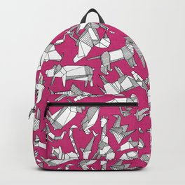 origami animal ditsy pink Backpack
