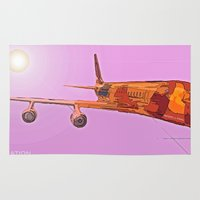 aviation Area & Throw Rugs featuring AVIATION by PALEOMODERN