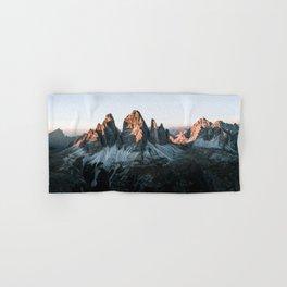 Dolomites sunset panorama - Landscape Photography Hand & Bath Towel