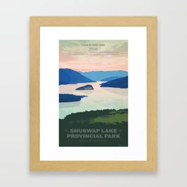 Shuswap Lake Provincial Park Framed Art Print