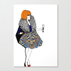 Party Dress Canvas Print