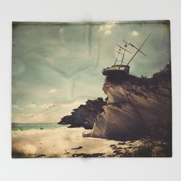 The Edge of the World Throw Blanket