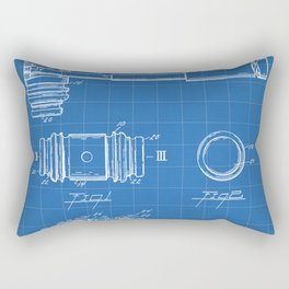 Judge Gavel Patent - Lawyer Art - Blueprint Rectangular Pillow