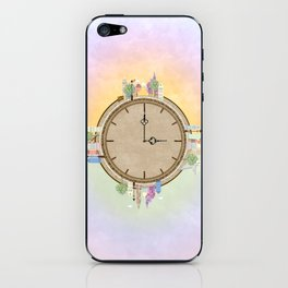 Time goes around Earth , or Earth goes around Time. iPhone Skin