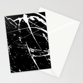 Modern hand painted black white watercolor splatters pattern Stationery Cards