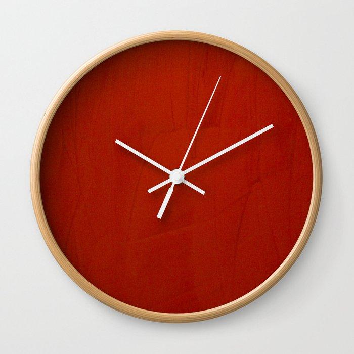 Italian Style Red Stucco Wall Clock