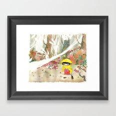 in the rain 1 Framed Art Print