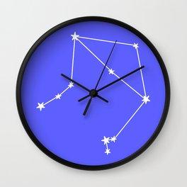 Libra (White & Azure Sign) Wall Clock