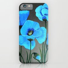 Blue poppies  iPhone 6s Slim Case