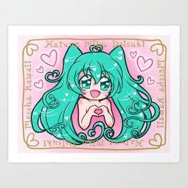 Vocaloid: Love Miku Art Print