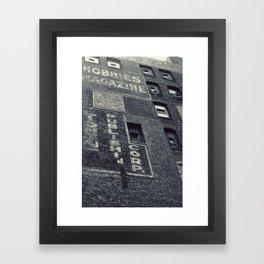 Hobbies Magazine Building Framed Art Print