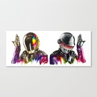daft punk Canvas Prints featuring Daft punk  by beart24