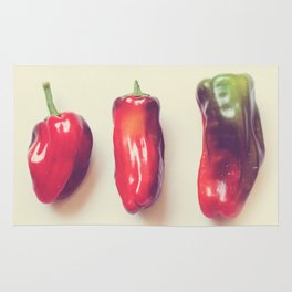 peppers photograph. hot Rug