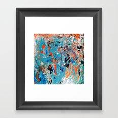 Marbled Sea Framed Art Print