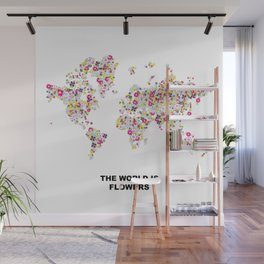 The World is Flowers Wall Mural