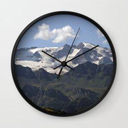 Alpine Ridge Alps Mountains Snow Peak Landscape Wall Clock