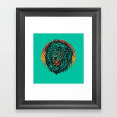 Zombie Lion Framed Art Print