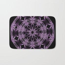 Mandala purple and black Bath Mat