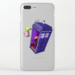 Zim Has the Blue Box Clear iPhone Case