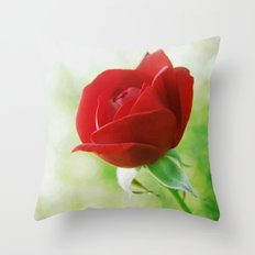 The Secret of the Red Rose Throw Pillow