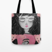loll3 Tote Bags featuring Beverly by lOll3