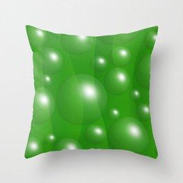 Abstract green 163 Throw Pillow