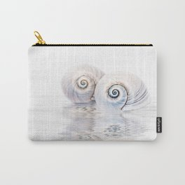 Snail Shells On Water Carry-All Pouch