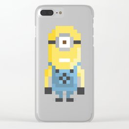 8bit Minion (Kevin) Clear iPhone Case