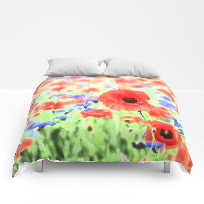 poppies art 004 Comforters