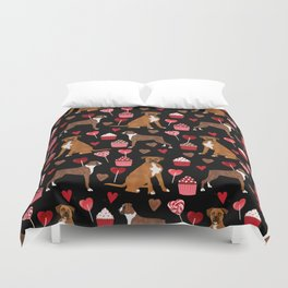 Boxer valentines day cupcakes heart love dog breed must have gifts Duvet Cover