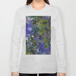 Violet Water Blossoms Long Sleeve T-shirt