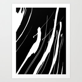 Abstract Swatches // White Art Print
