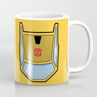 transformers Mugs featuring Transformers - Sunstreaker by CaptainLaserBeam