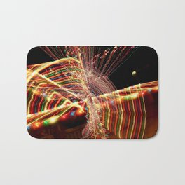 Abstract Xmas Lights Sculpting Bath Mat