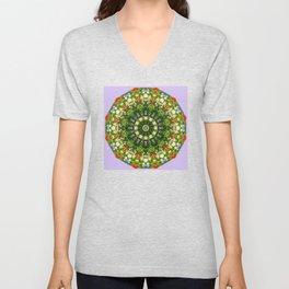 Nature Flower Mandala, Wildflowers, Floral mandala-style Unisex V-Neck