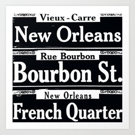 NEW ORLEANS FRENCH QUARTERS Art Print
