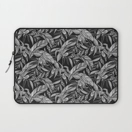Black and White Feathers Laptop Sleeve