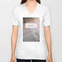 blush V-neck T-shirts featuring Surrender Blush by Lovedart