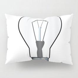 White Light Lightbulb Pillow Sham