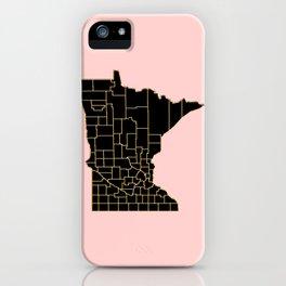 Minnesota map iPhone Case