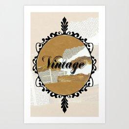 Vintage Collage Frame Art Print
