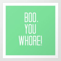 mean girls Art Prints featuring Mean Girls #4 – Boo by Enyalie