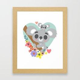 Koala Bear Love / Cute Animal Framed Art Print