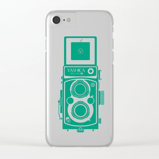 Yashica Mat 124G Camera Emerald Clear iPhone Case