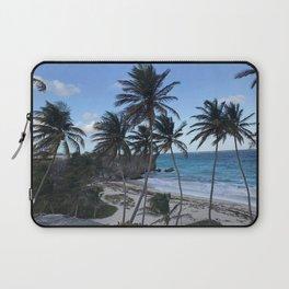 Barbados Palm Tree Beach Laptop Sleeve