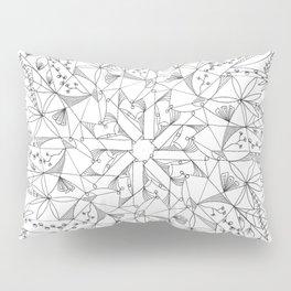 Black and White Mandala Pillow Sham