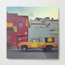 Yellow Repair Truck Metal Print