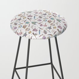 Cute Dungeons and Dragons Pattern Bar Stool