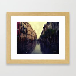 Rainy Afternoon in Seville Framed Art Print