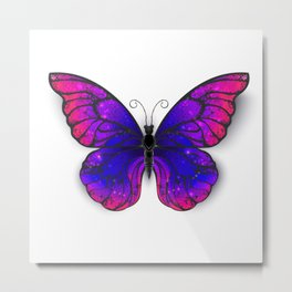 Tricolored Butterfly Metal Print